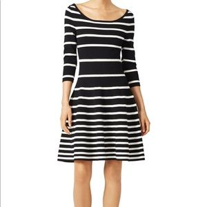 Milly Mime Striped Fit and Flare Sweater Dress